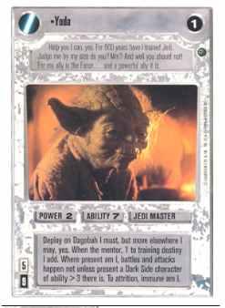 Yoda/'s Hope Star Wars CCG Dagobah BB SWCCG Nrmt//Mint