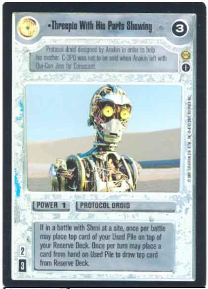 Star Wars CCG Reflections 3 III Foil Mauls Sith Infiltrator