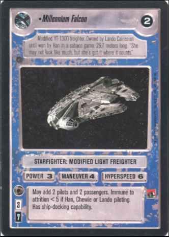 Lando In Millennium Falcon ENHANCED CLOUD CITY star wars ccg Near Mint