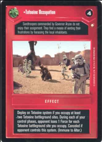 SPECIAL EDITION star wars ccg swccg Colonel Feyn Gospic Near Mint