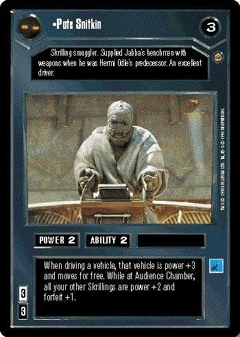 Star Wars CCG Jabbas Palace Card Wooof