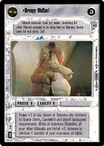 Star Wars CCG Jabbas Palace Card Rkik Dnec Hero Of The Dune Sea
